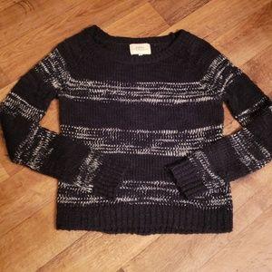 Papaya Black and White Striped Sweater